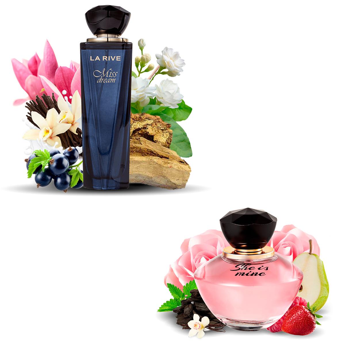 Kit 2  Perfumes La Rive Miss Dream 100ml + She Is Mine 90ml