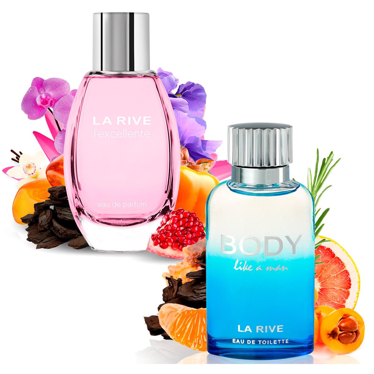 Kit 2 Perfumes, Lexcellente e Body Like a Man La Rive