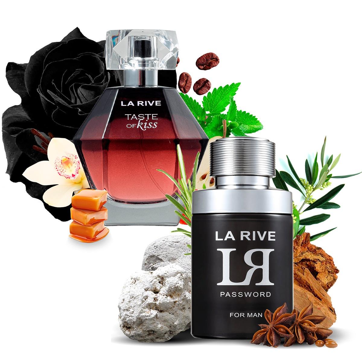Kit 2 Perfumes LR Password e Taste of Kiss La Rive