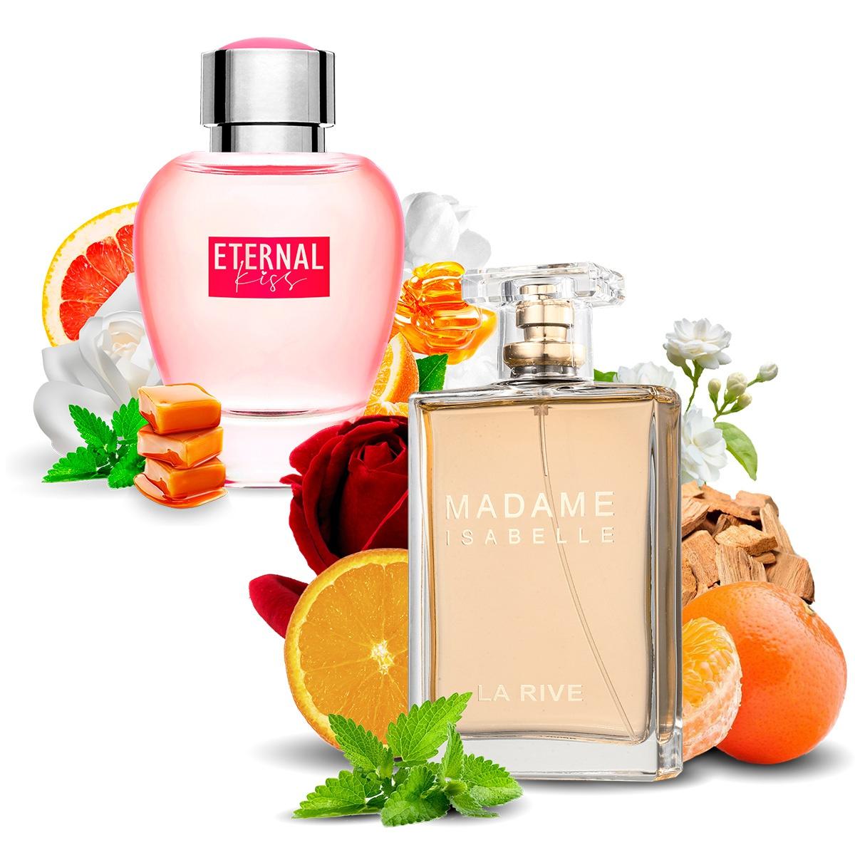 Kit 2 Perfumes, Madame Isabelle e Eternal Kiss La Rive