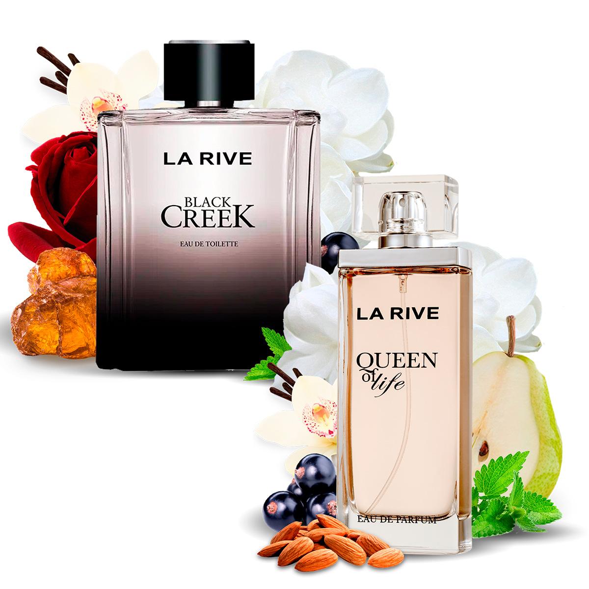 Kit 2 Perfumes, Queen of Life e Black Creek La Rive