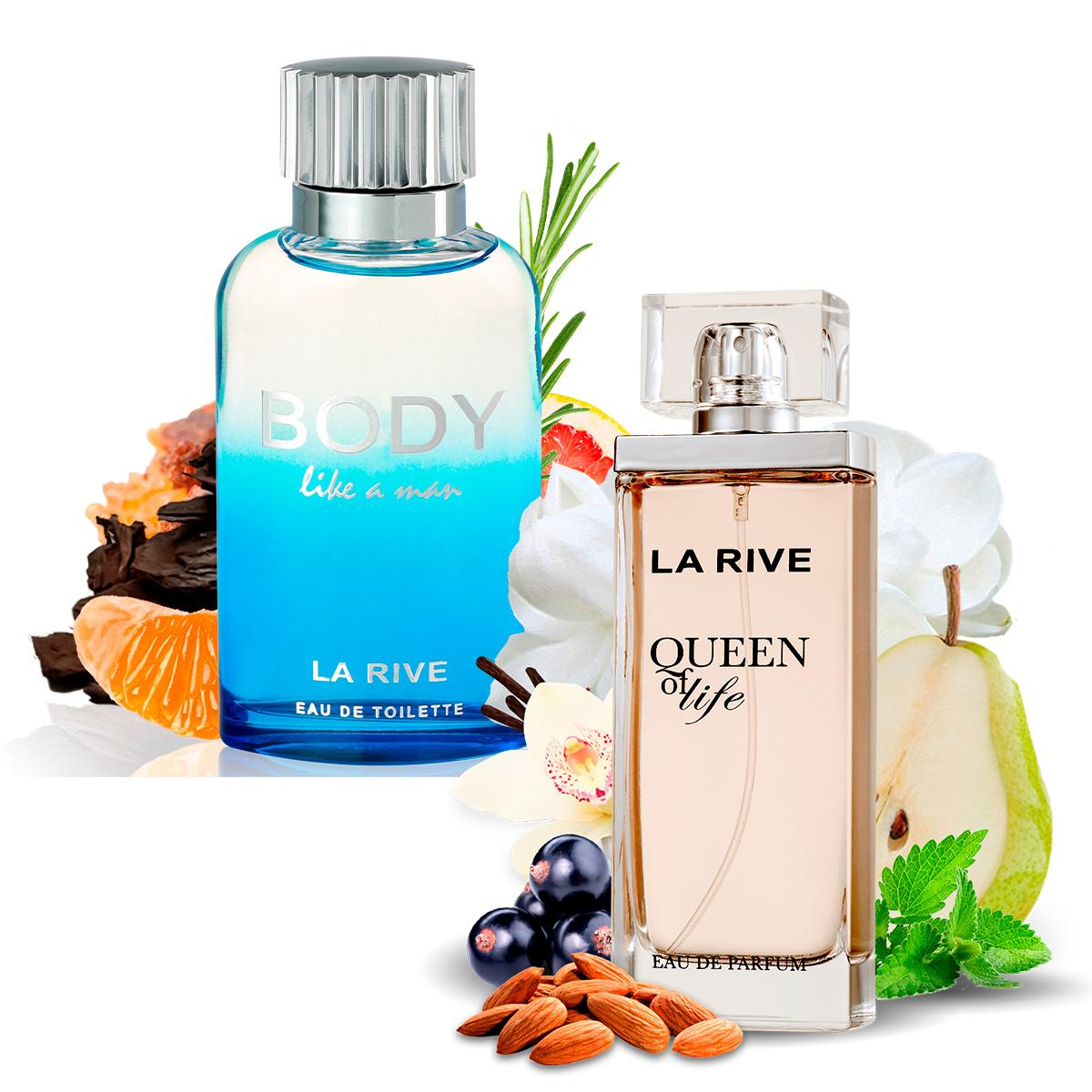 Kit 2 Perfumes Queen of Life e Body Like a Man La Rive