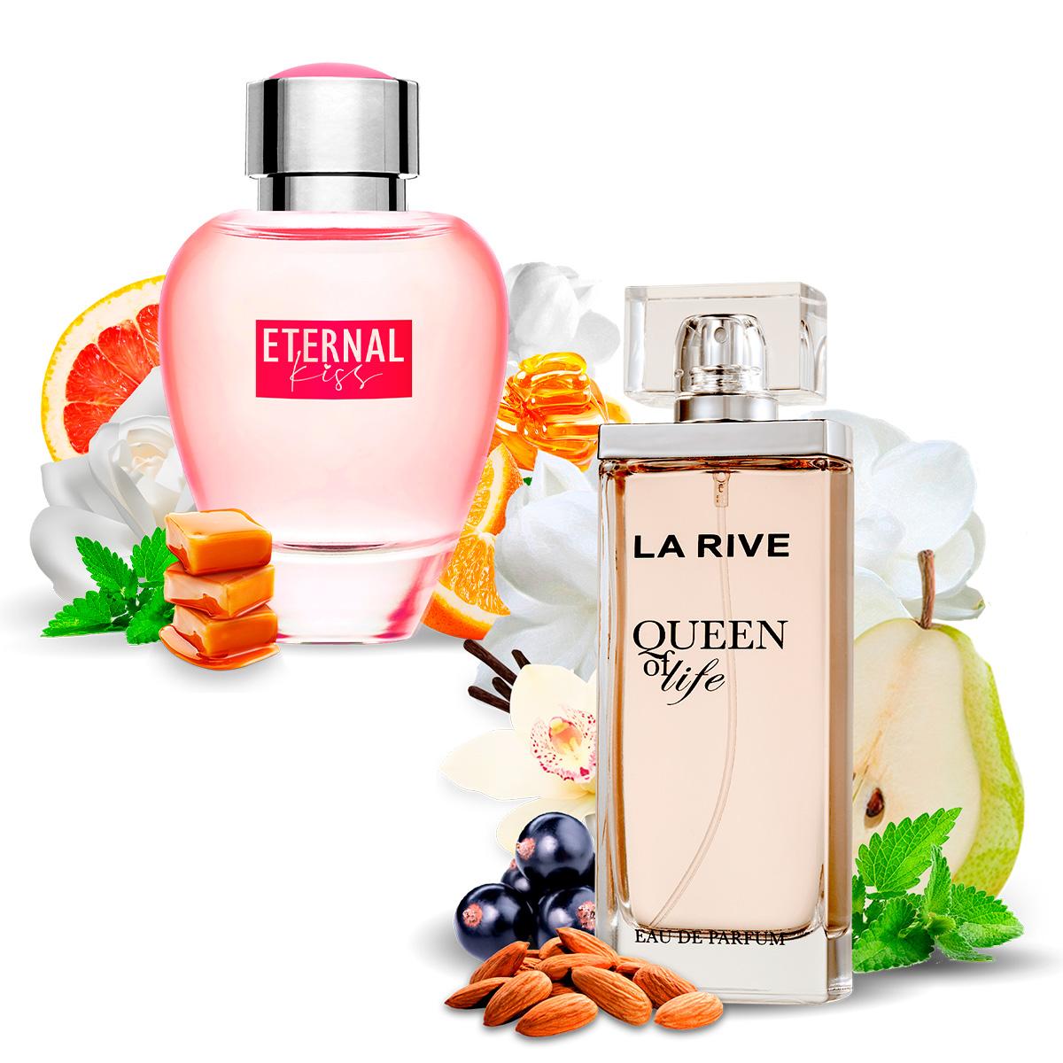 Kit 2 Perfumes, Queen of Life e Eternal Kiss La Rive