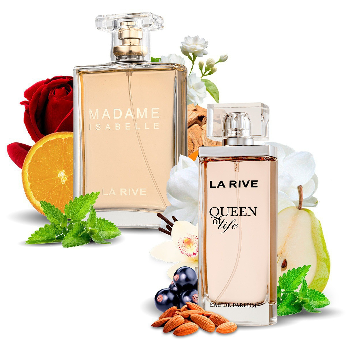 Kit 2 Perfumes Queen of Life e Madame Isabelle La Rive
