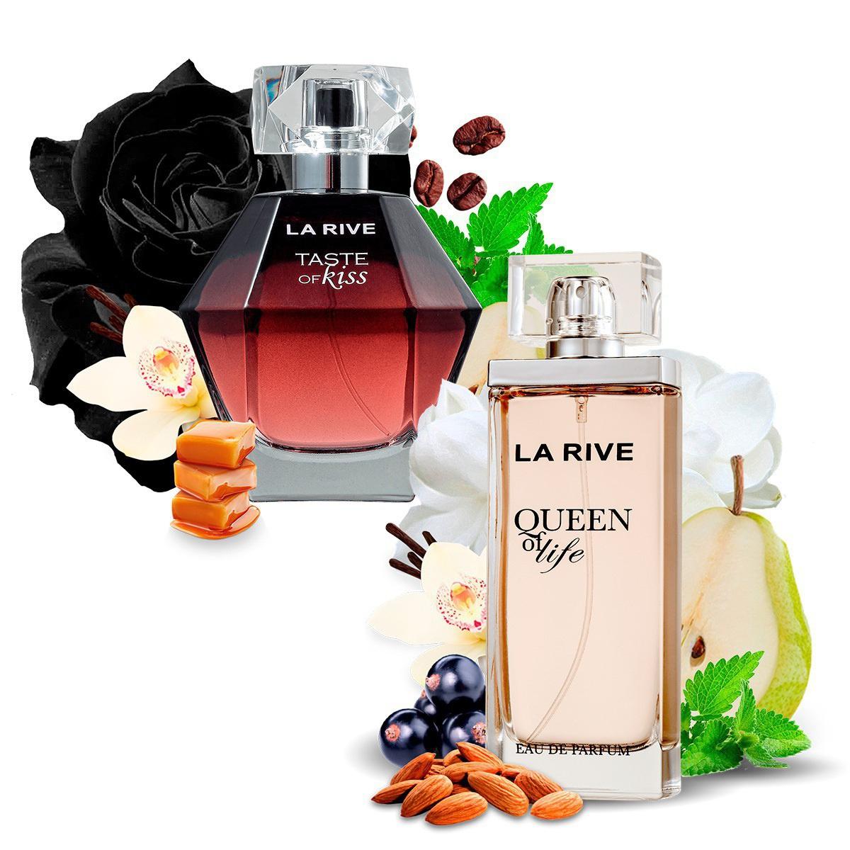 Kit 2 Perfumes, Queen of Life e Taste of Kiss La Rive  - Mercari Perfumes