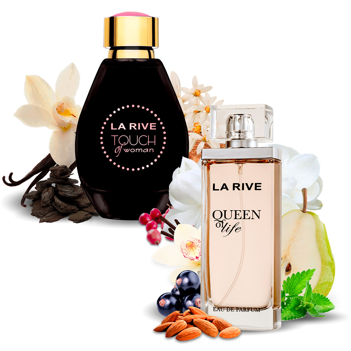 Kit 2 Perfumes Queen of Life e Touch of Woman La Rive