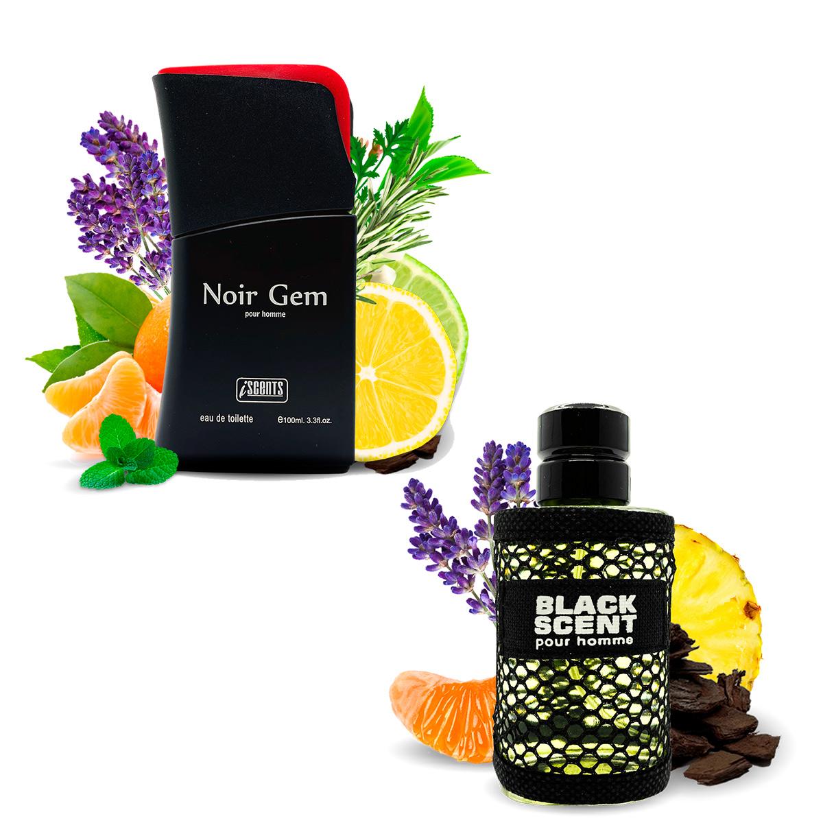 Kit 2 Perfumes Silver Spirit e Black Scent I Scents