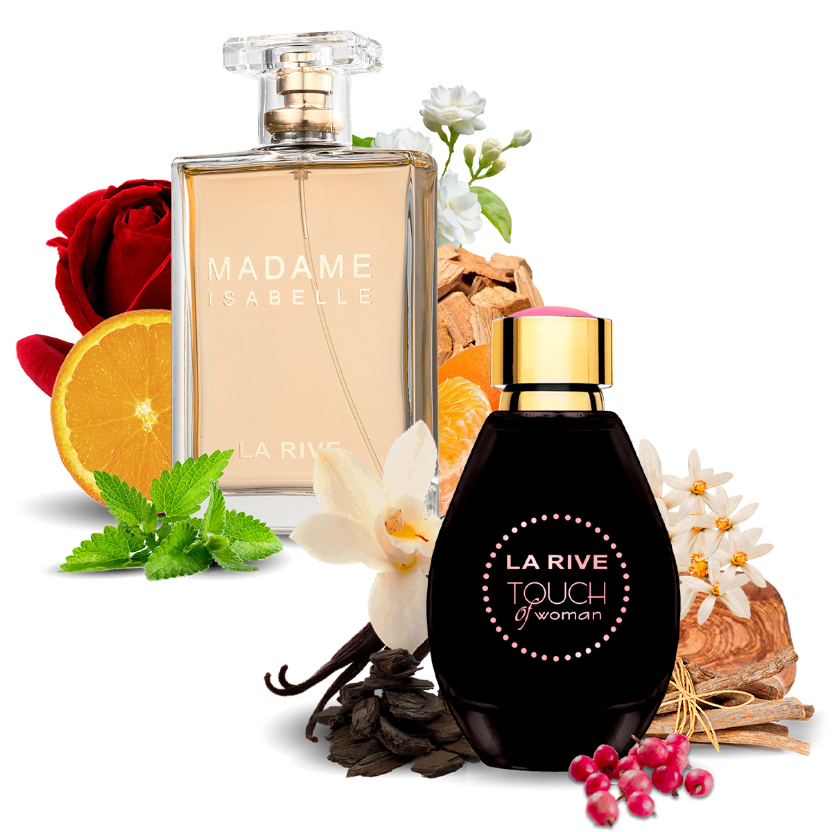 Kit 2 Perfumes, Touch of Woman e Madame Isabelle La Rive