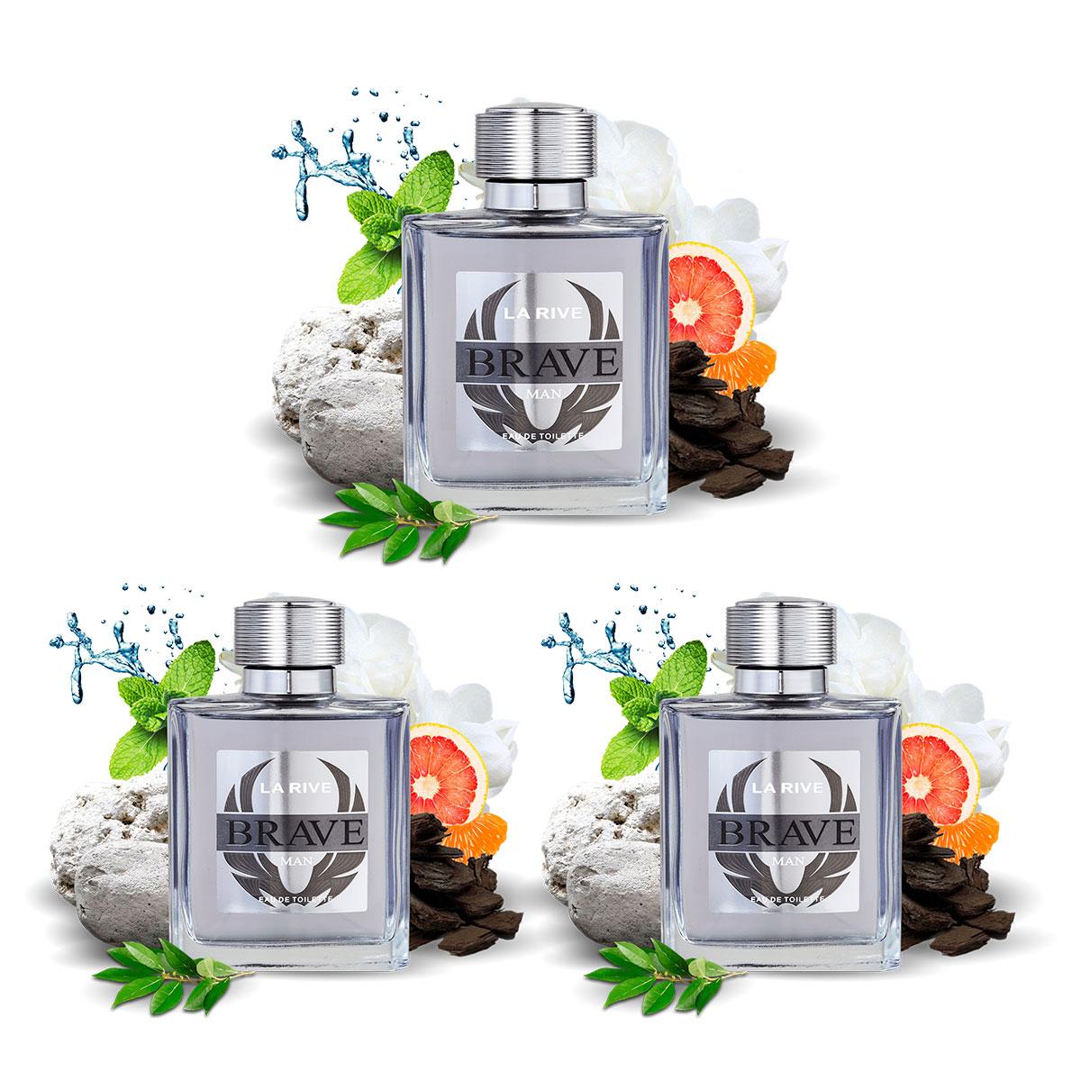 Kit 3 Perfumes Importados Masculinos Brave La Rive