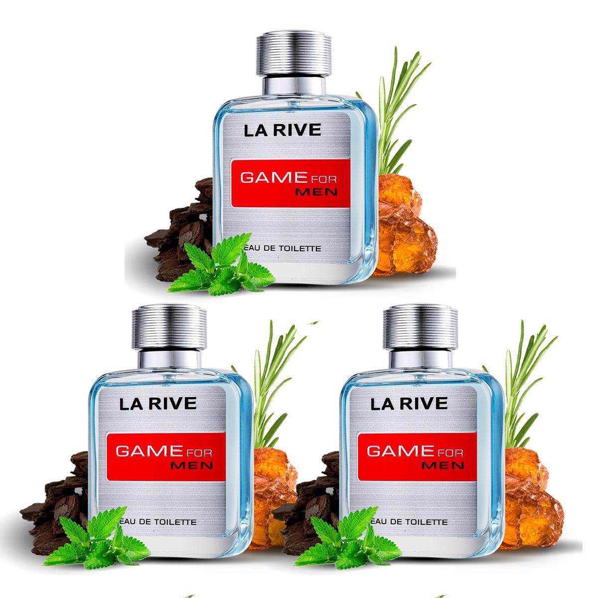 Kit 3 Perfumes Importados Masculinos Game for Men La Rive