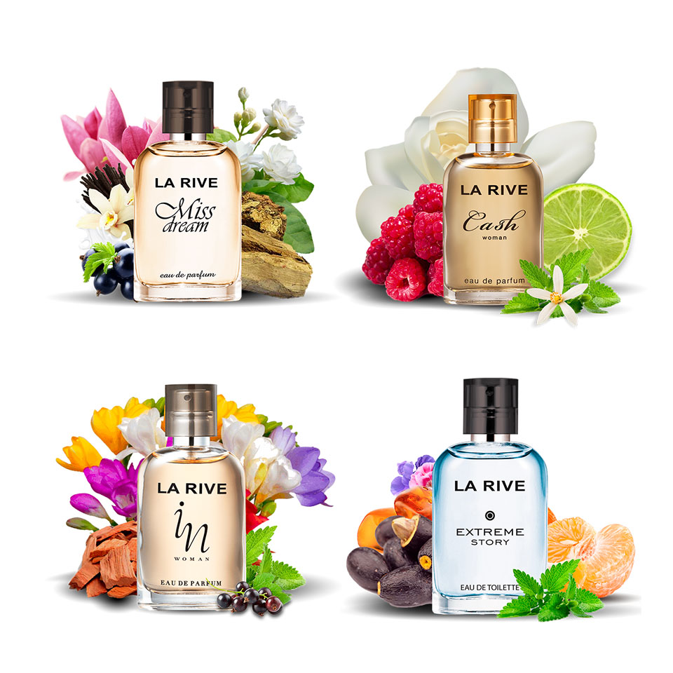 Kit 4 perfumes La Rive Miss Dream, Cash Woman, In Woman e Extreme Story 30ml