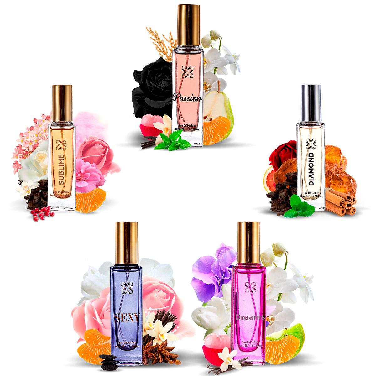 Kit 5 Perfumes Essenciart 30ml Masculino e Feminino Atacado