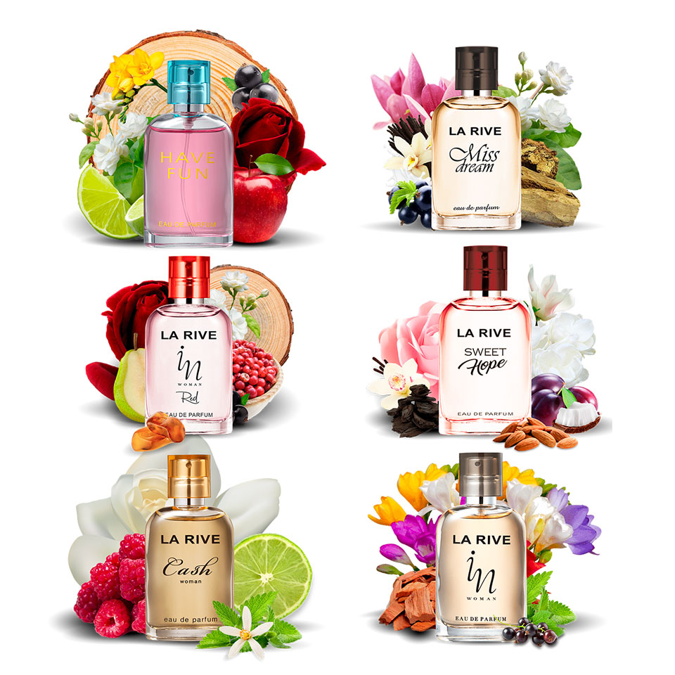 Kit 6 perfumes Importados 30ml La Rive Atacado