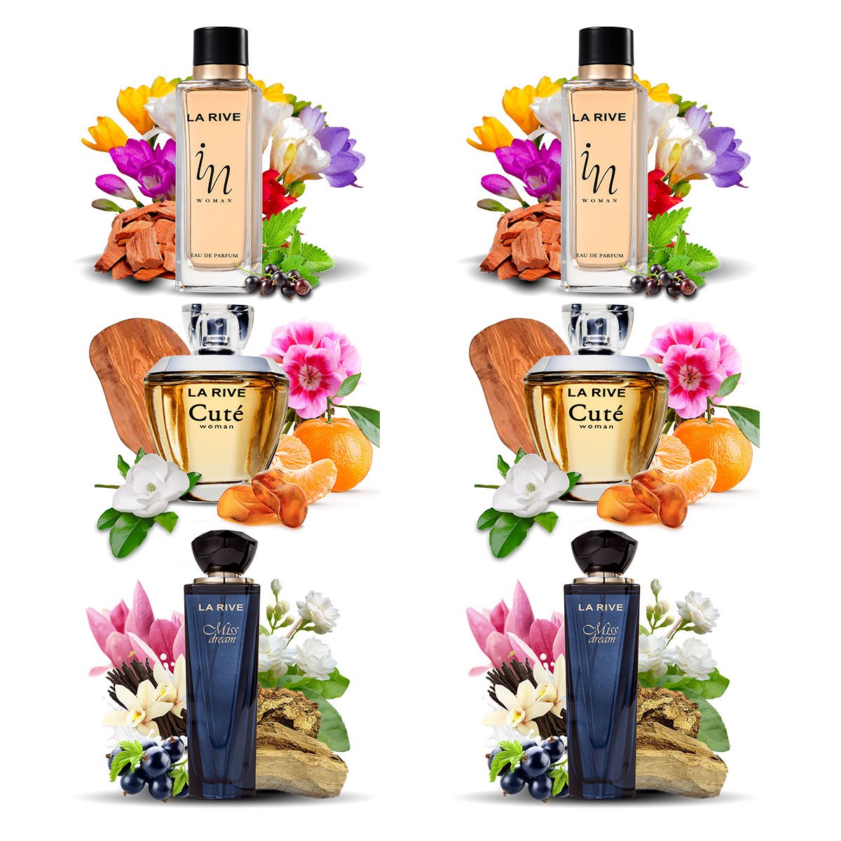 Kit 6 Perfumes Importados La Rive Feminino Atacado