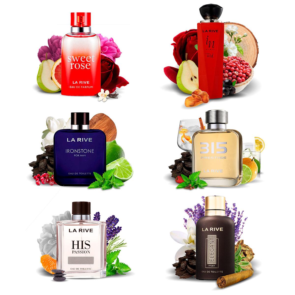Kit 6 Perfumes Importados La Rive Masculino e Feminino
