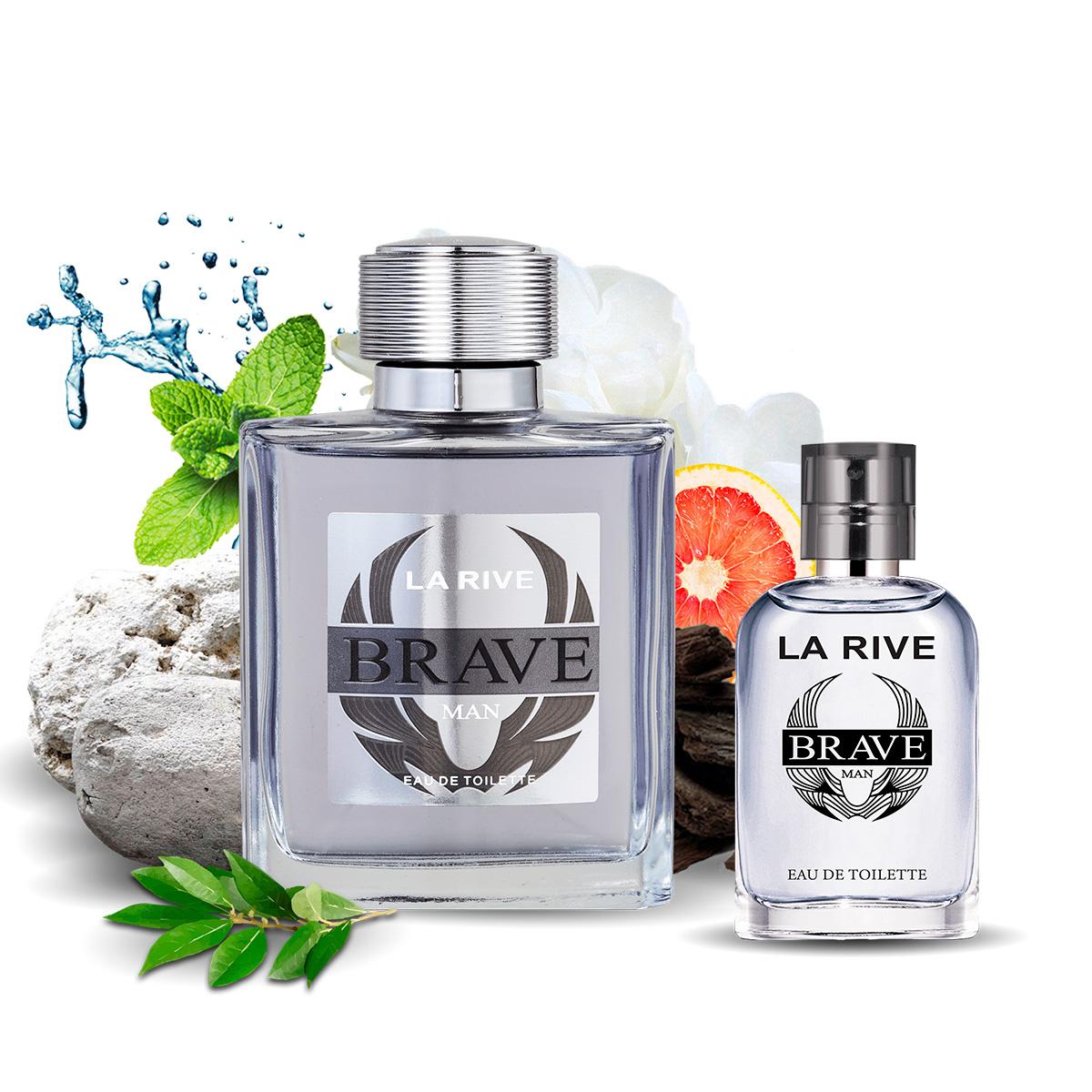 Kit  perfume Brave 90ml + 30ml de Bolsa La Rive
