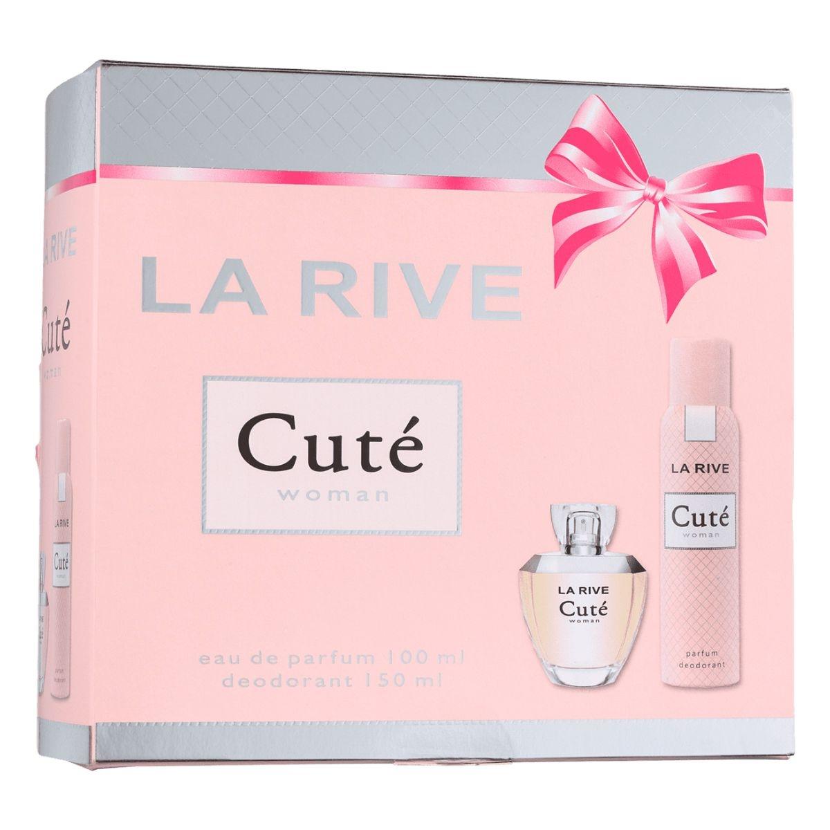 Kit Perfume Cuté F 100ml + Desodorante 150ml La Rive  - Mercari Perfumes