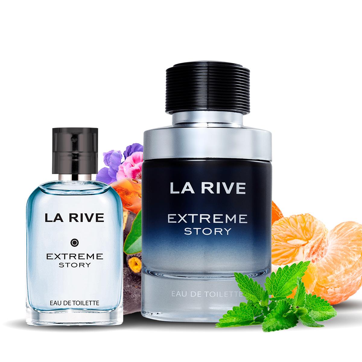 Kit  perfume Extreme Story 75ml + 30ml de Bolsa La Rive