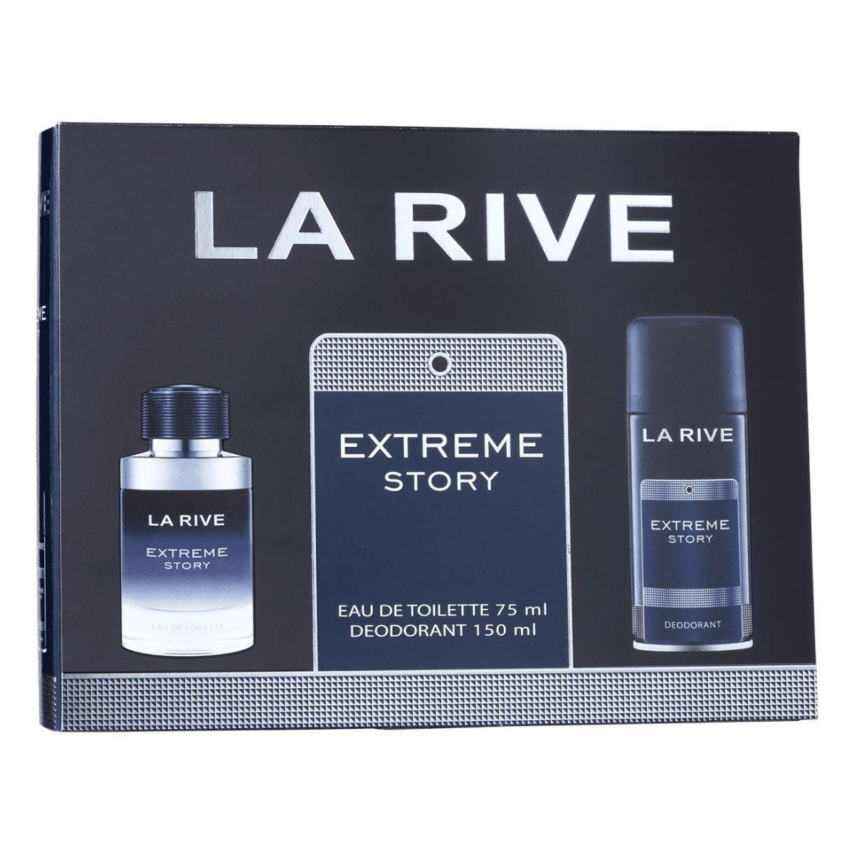 Kit Perfume Extreme Story M 75ml + Desodorante 150ml La Rive