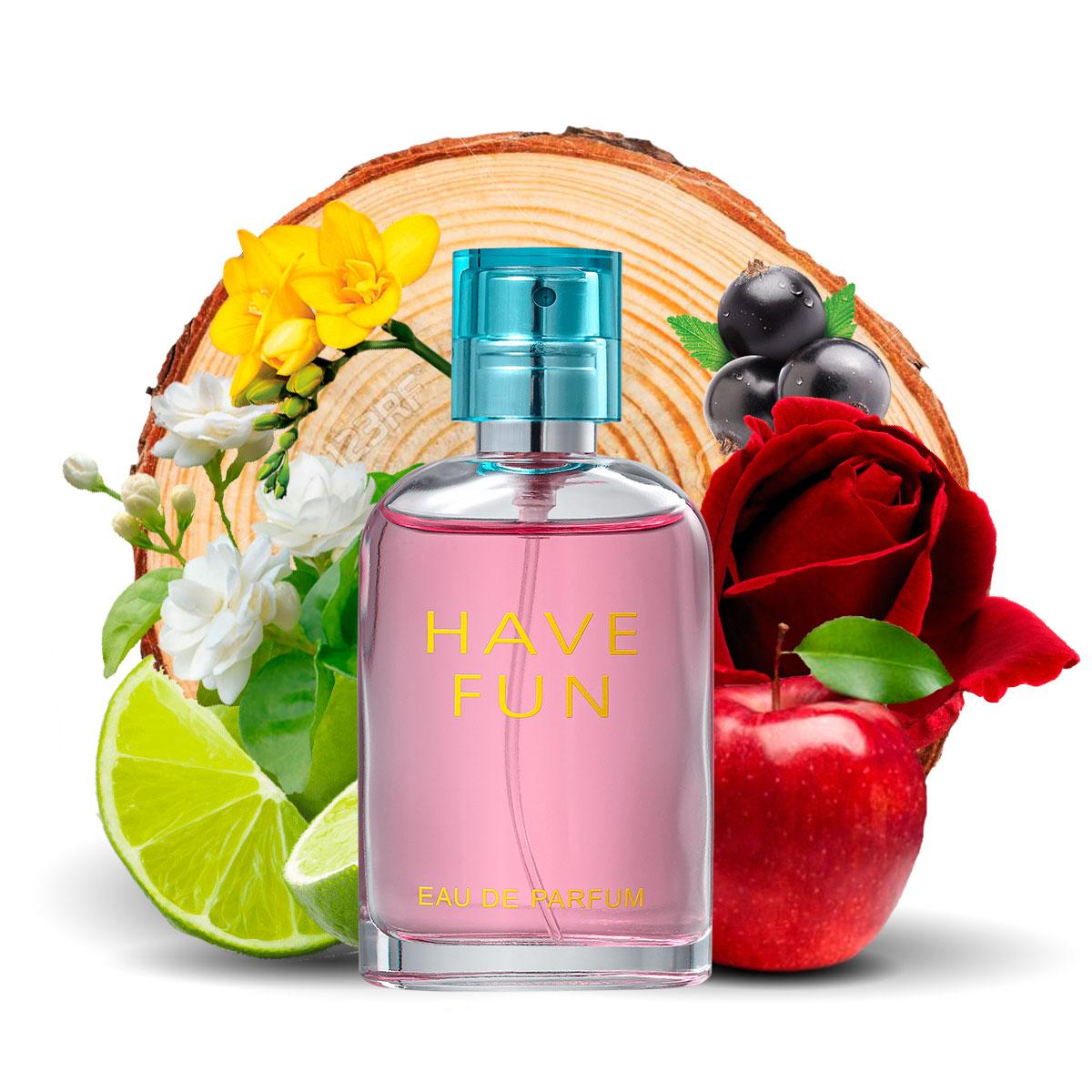 Kit  perfume Have Fun 90ml + 30ml de Bolsa La Rive