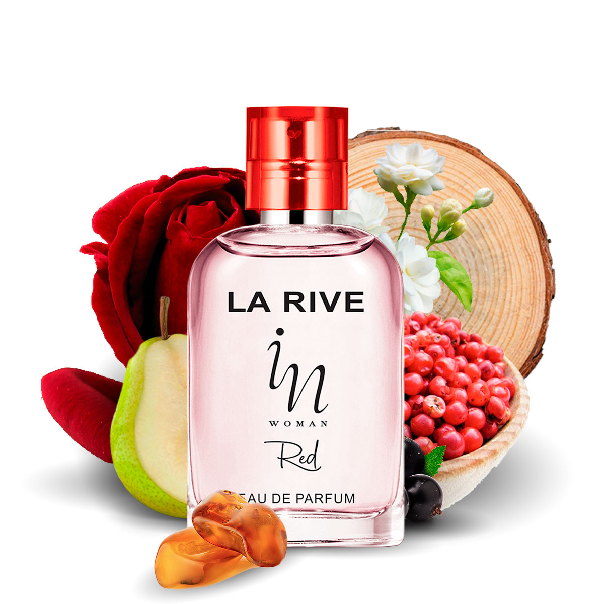 Kit  perfume In Woman Red 100ml + 30ml de Bolsa La Rive