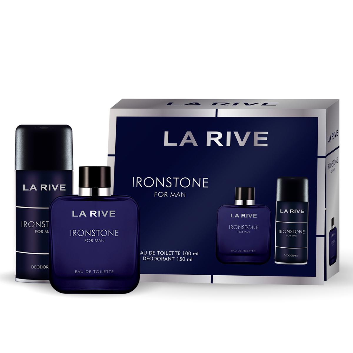 Kit Perfume Ironstone M 75ml + Desodorante 150ml La Rive
