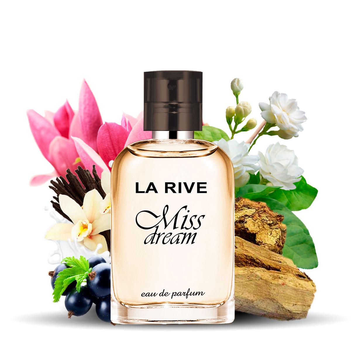 Kit  perfume Miss Dream 100ml + 30ml de Bolsa La Rive