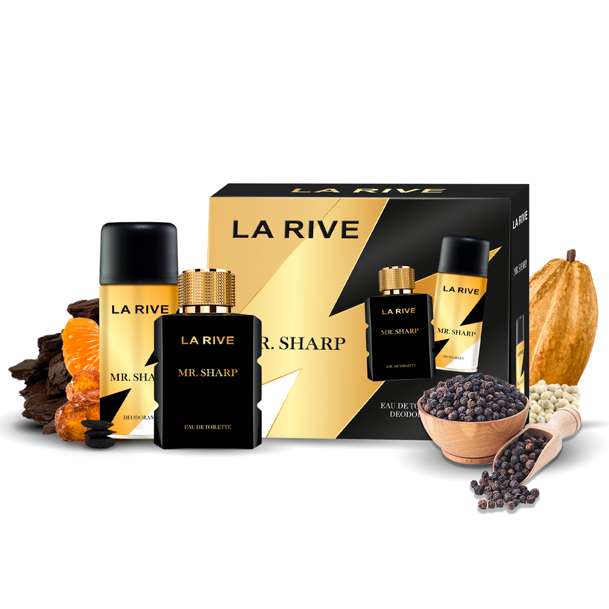 Kit Perfume Mr Sharp M 100ml + Desodorante 150ml La Rive