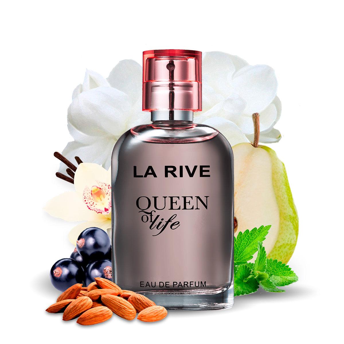 Kit  perfume Queen Of Life 75ml + 30ml de Bolsa La Rive