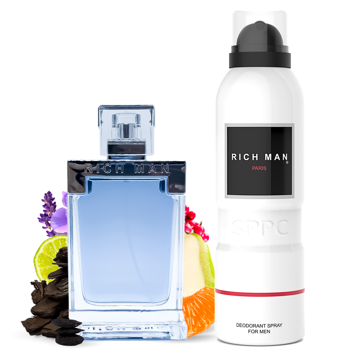 Kit Perfume Rich Man 100ml e Desodorante 200ml Paris Bleu