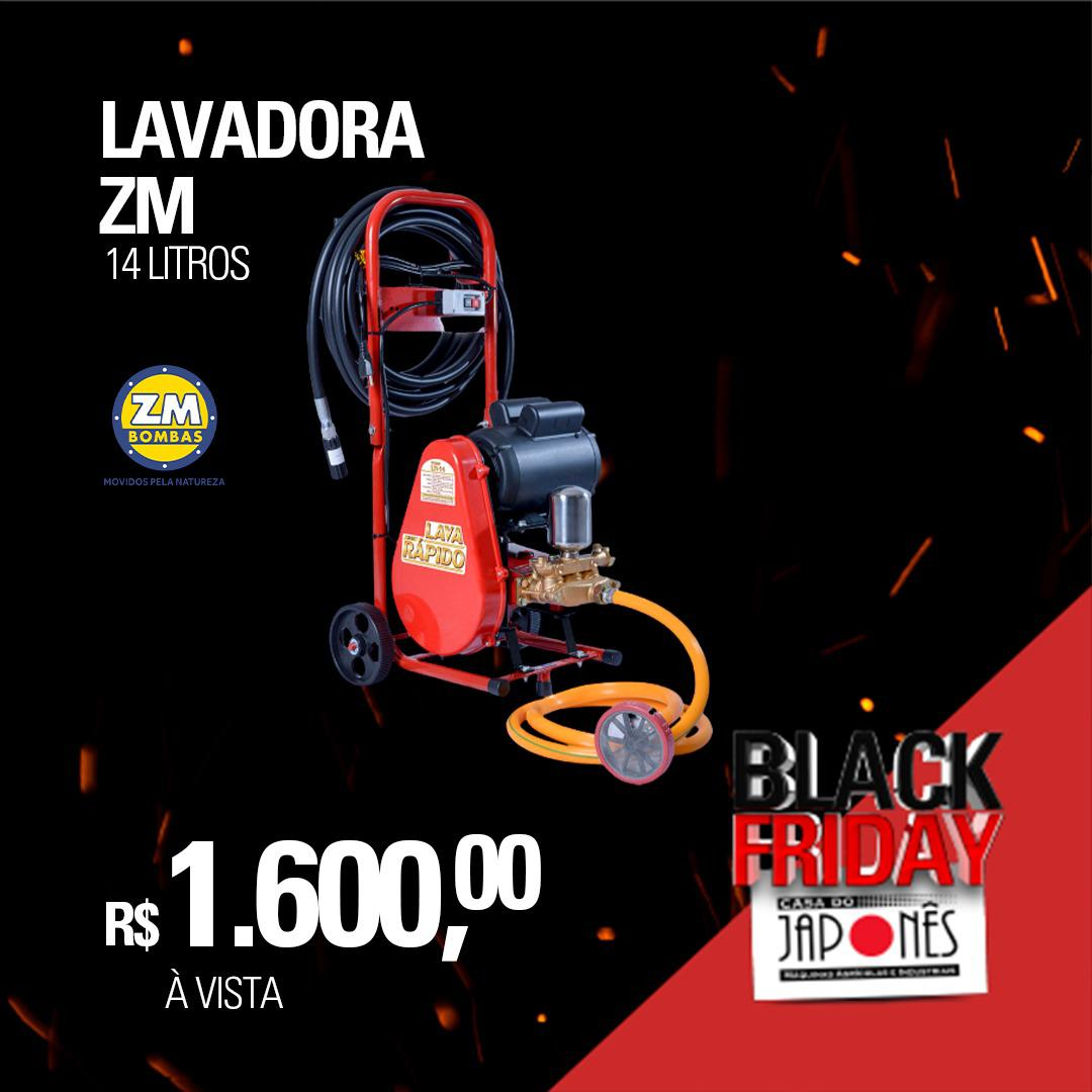 Lavadora de média pressão LR 14 1,0cv ZM com carrinho e motor monofásico 127/220V