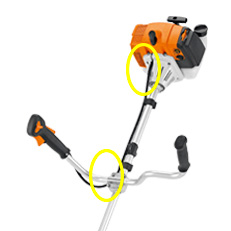 Roçadeira a gasolina FS 290 STIHL com conjunto fio de corte