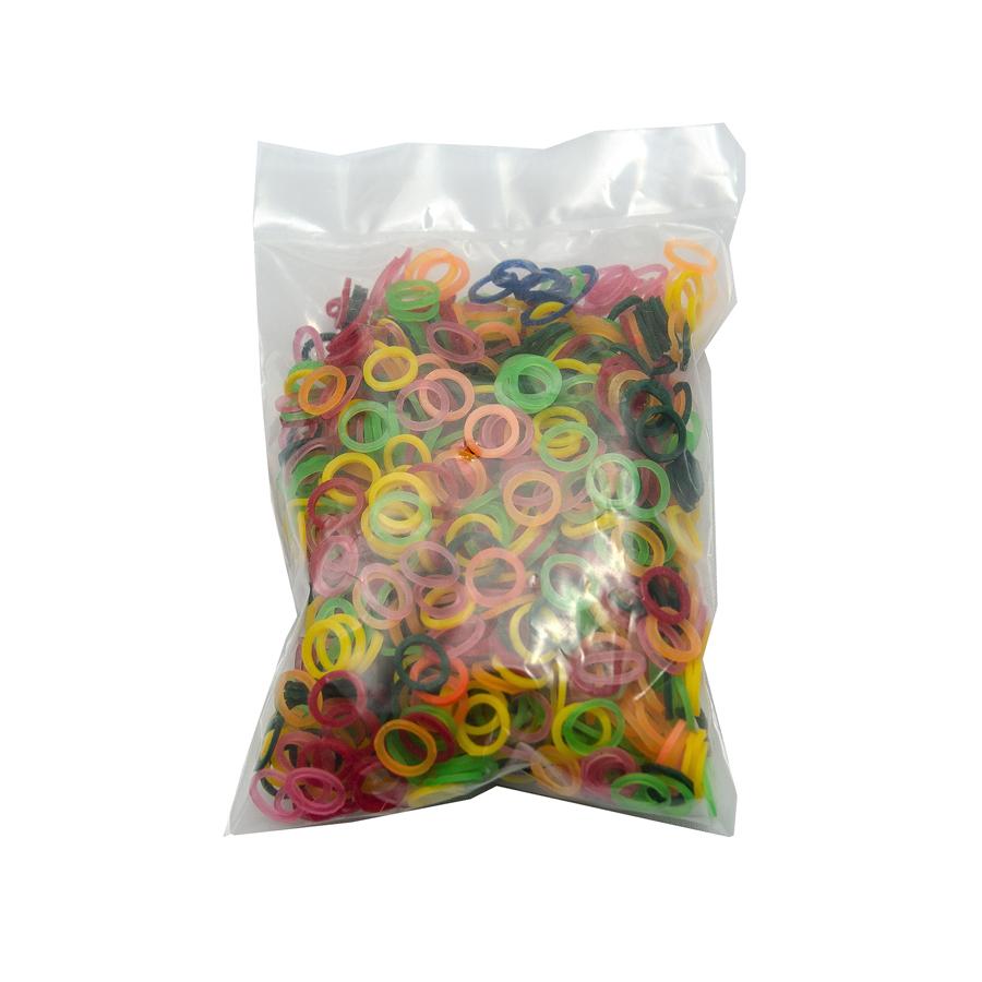 Elástico Colorido Mix de Cores Pacote com 1.000 unidades