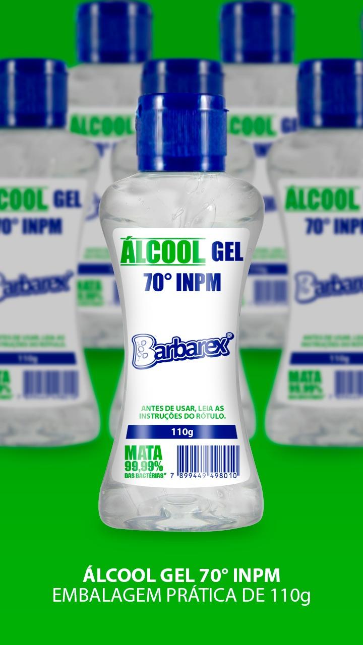 Kit 6 unidades de Álcool gel 70º 110g Barbarex