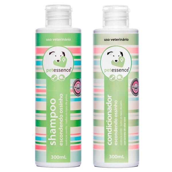 Kit Shampoo e Condicionador Escondendo Ossinho 300ml PetEssence
