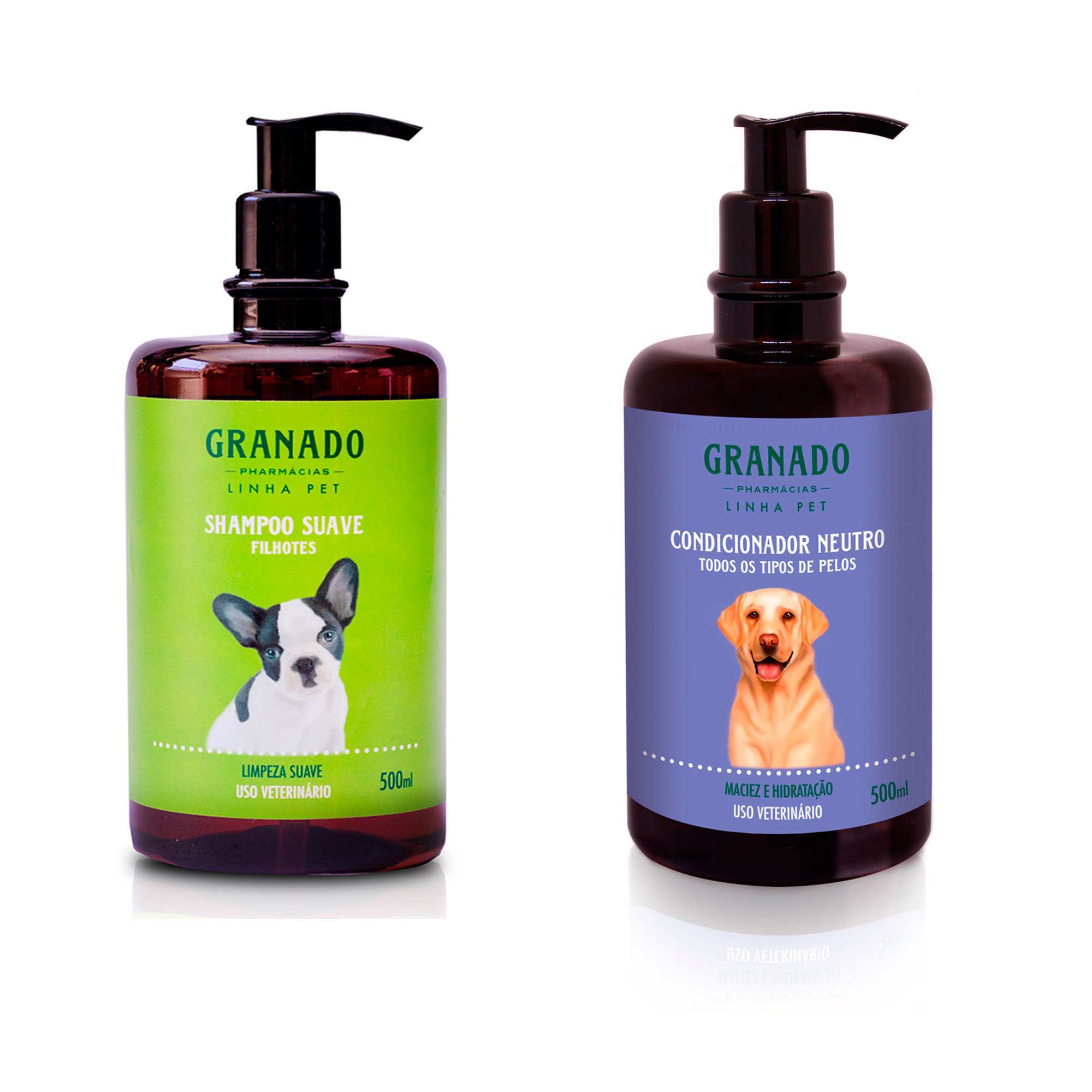 Kit Shampoo Filhote e Condicionador Neutro 500ml Granado Pet
