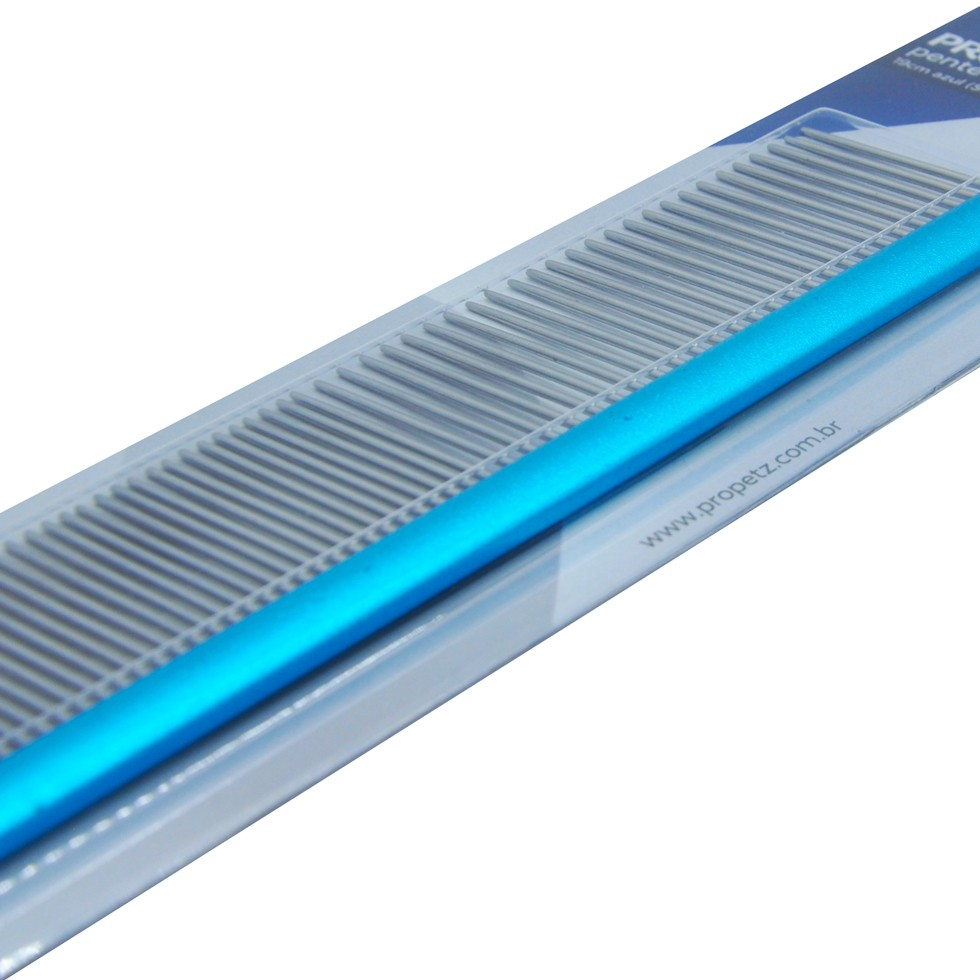Pente 19cm Duplo Alumínio Azul Propetz