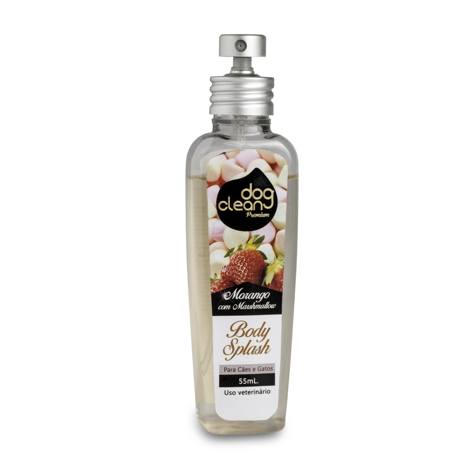 Perfume Body Splash Morango com Marshmallow 55ml Dog Clean