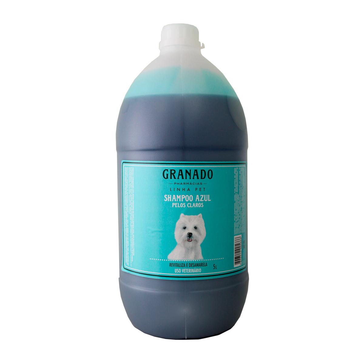 Shampoo Azul Pelos Claros 5L Granado