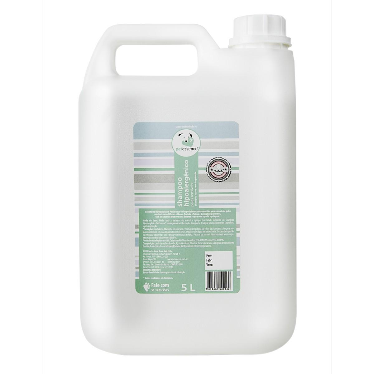 Shampoo Hipoalergênico 5L PetEssence