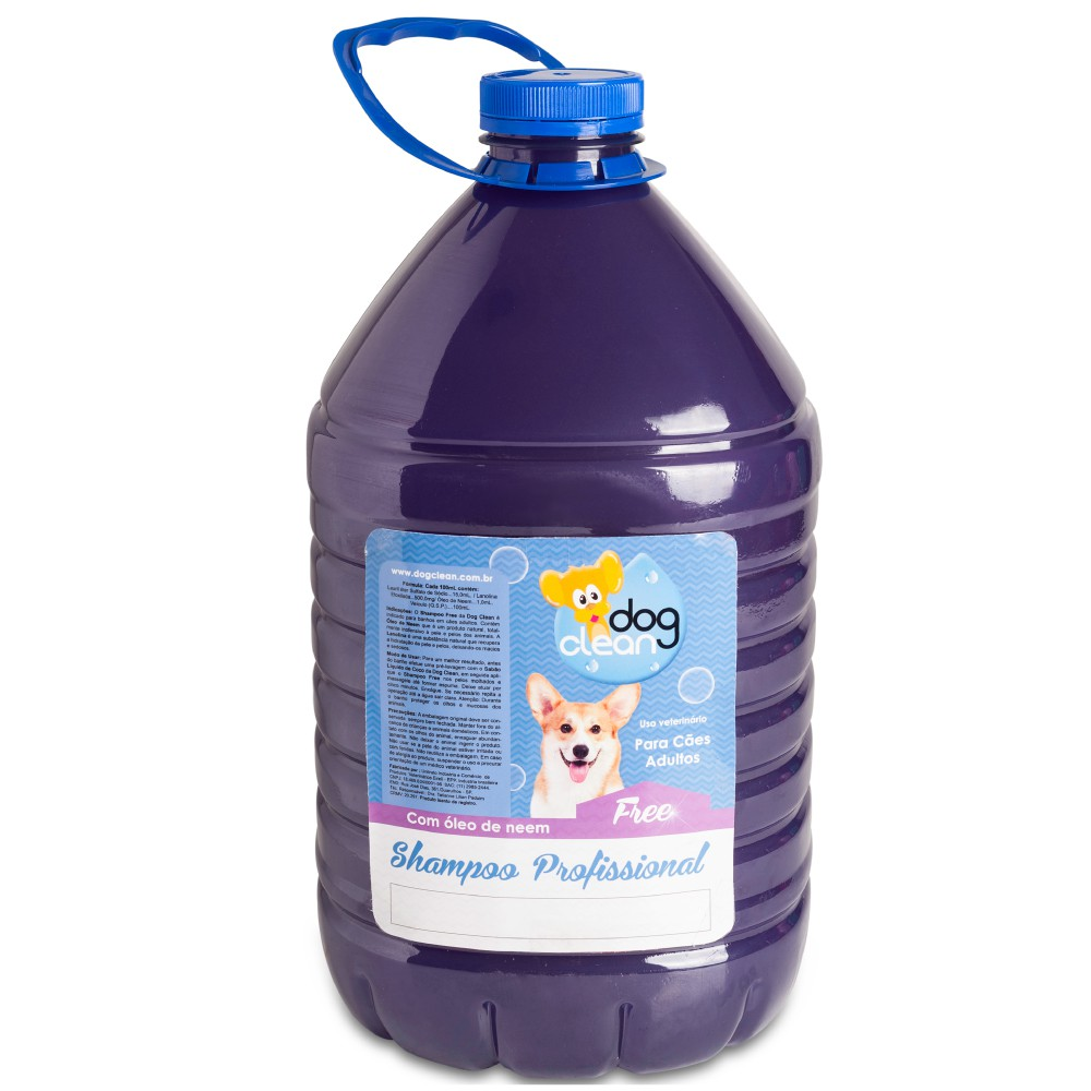 Shampoo Profissional Free 5L Dog Clean