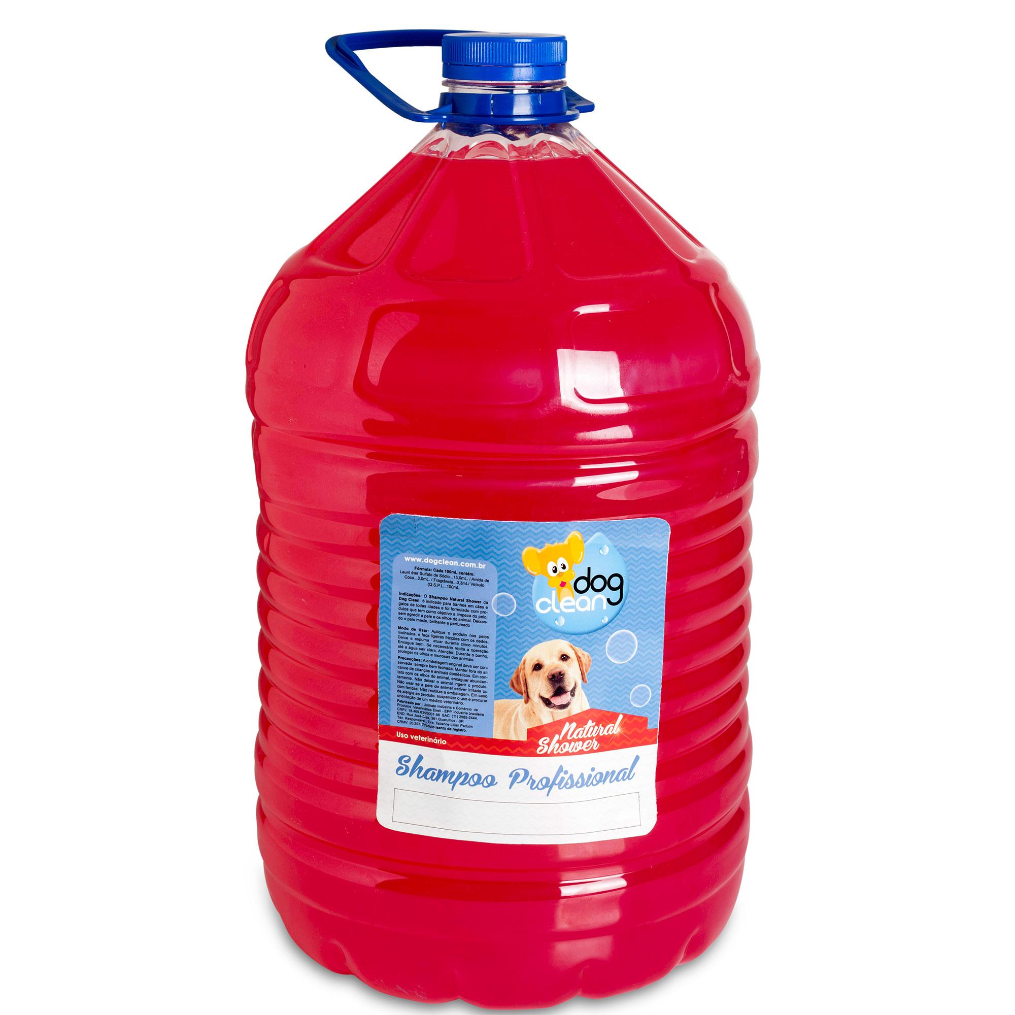 SHAMPOO PROFISSIONAL NATURAL SHOWER 10L DOG CLEAN