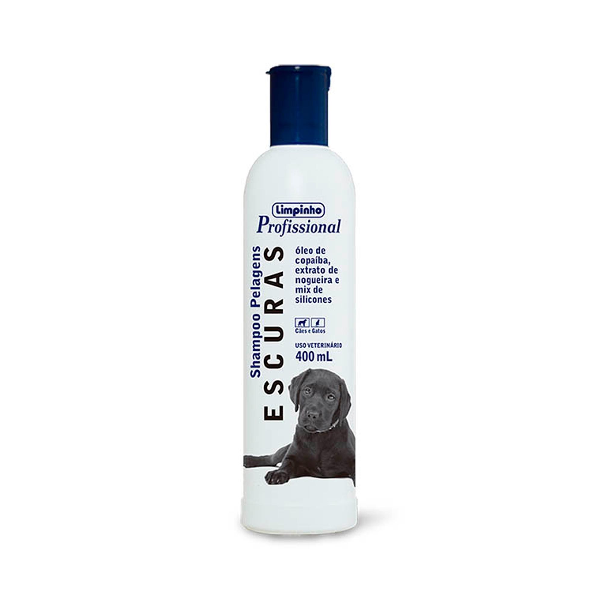Shampoo Profissional Pelos Escuros Limpinho 400ml