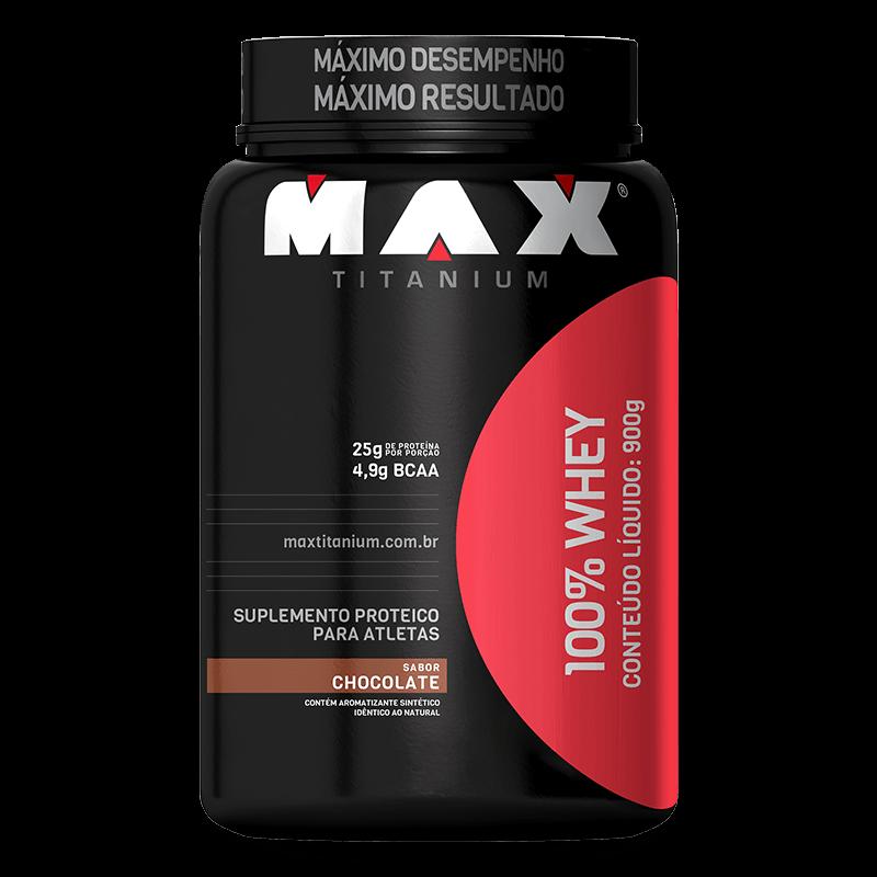 100% WHEY CONCENTRADA 900G MAX TITANIUM