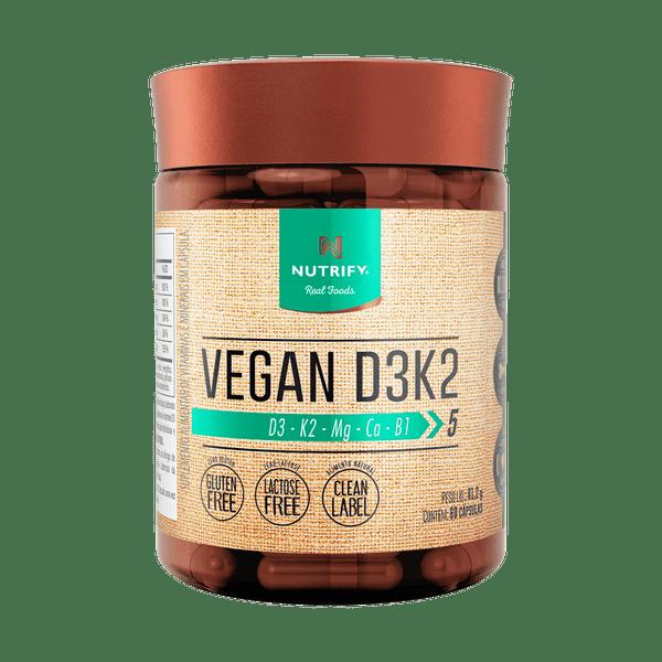 VEGAN D3 K2 60 CAPS NUTRIFY