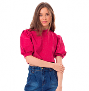 Cropped Glam Pink