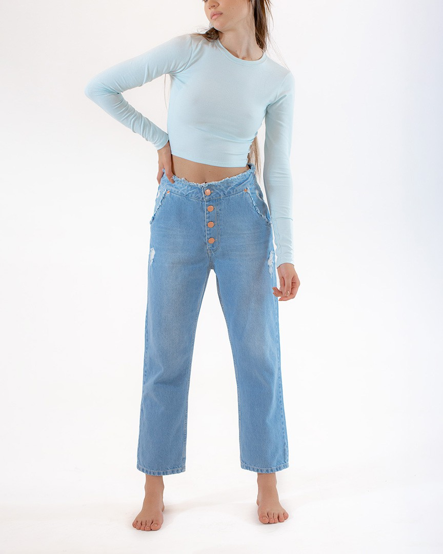 Cropped Gold Azul