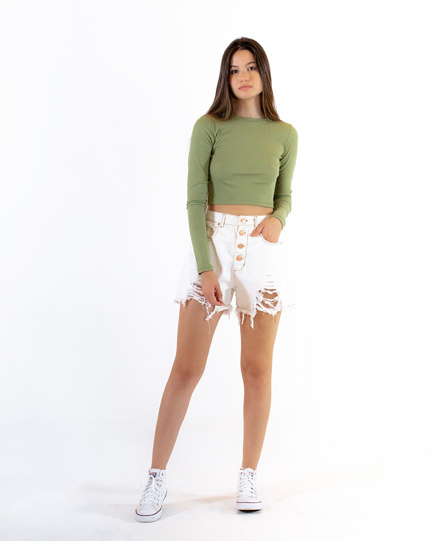 Cropped Gold Verde
