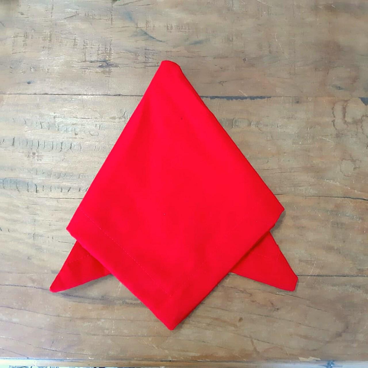 Guardanapo Canto Mitrado Liso Vermelho (1un)