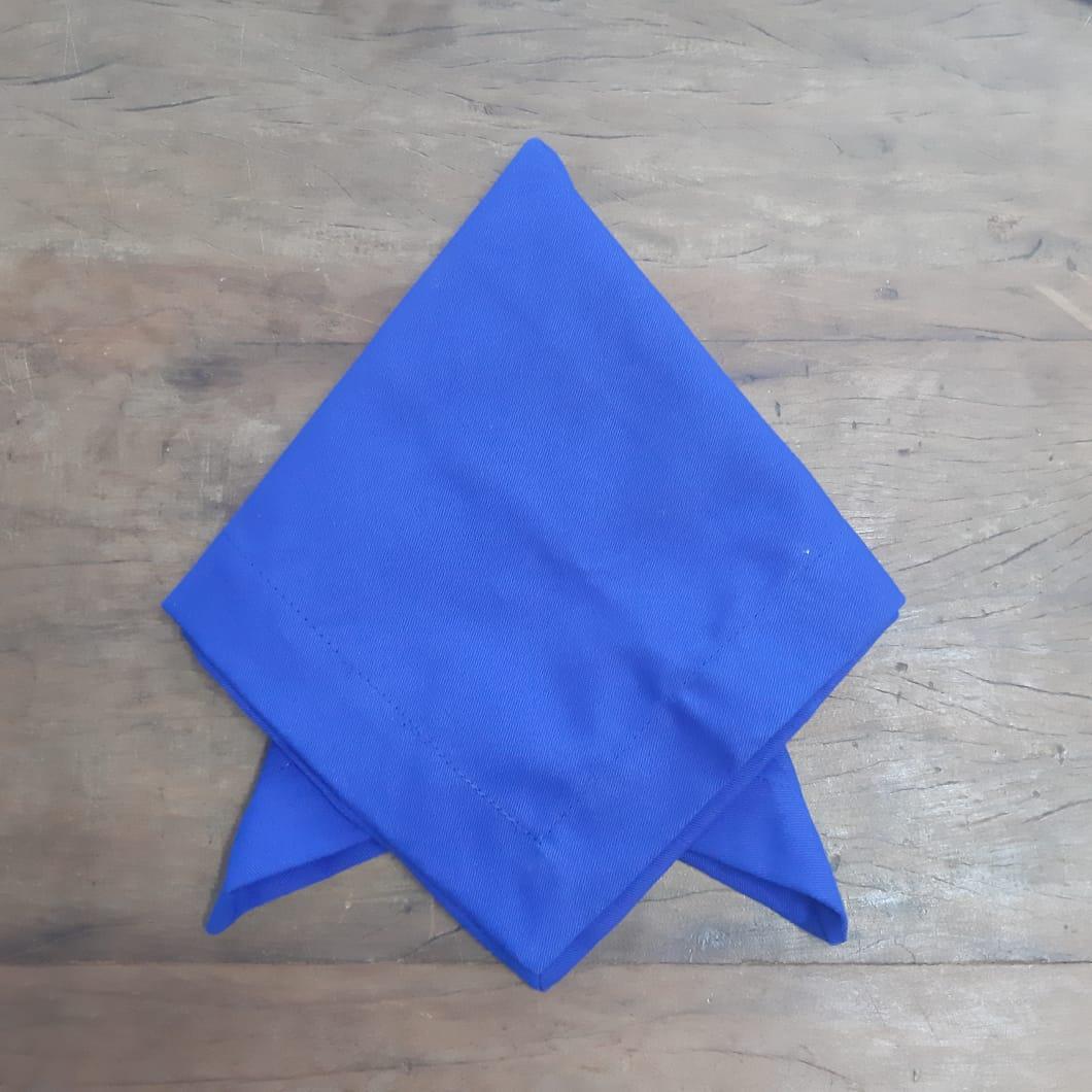 2 Guardanapos Canto Mitrado Lisos Azul Royal